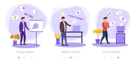 low battery concept Ilustrace