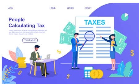 people calculating taxes