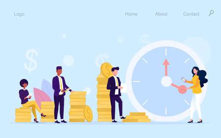 Time is money design illustration Ilustrace