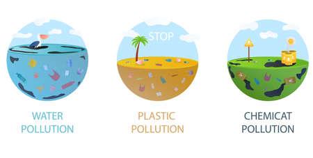 Environmental pollution concept Ilustrace