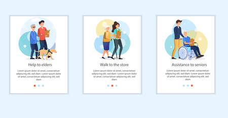 Social volunteering concept Ilustrace