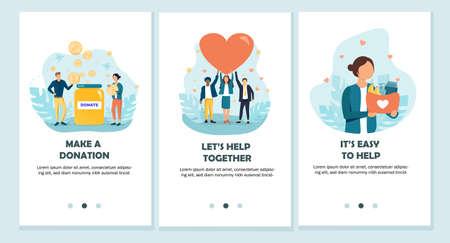 Charity vector illustrations Ilustrace