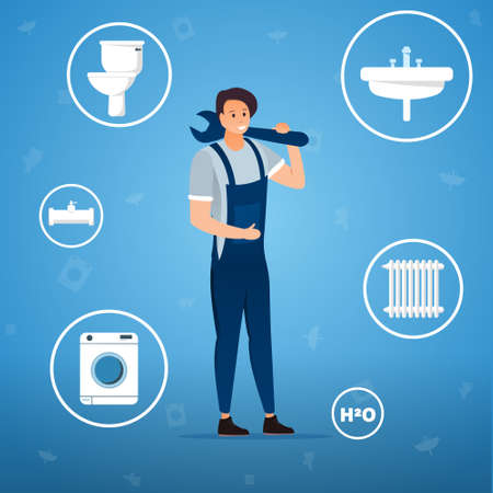 Plumbing services concept
