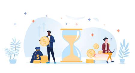 Time is money concept Ilustrace