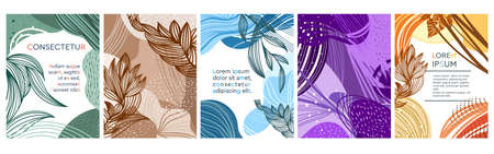 Set of colored abstract patterns Ilustrace