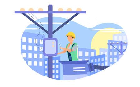 Urban power grid repair concept