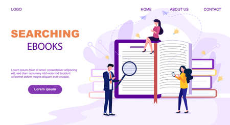 Flat design style web banner for online learning, education apps Ilustrace