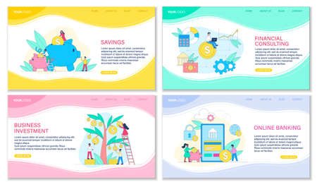 Four web templates for Banking concepts Ilustrace