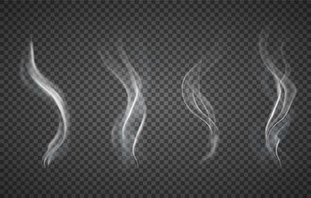 Assorted realistic plumes of smoke Ilustrace