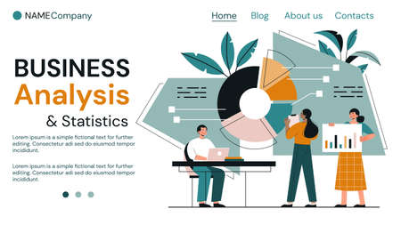 Business analysis and teamwork concept Ilustrace