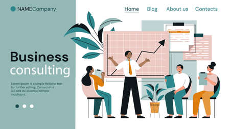Business Consulting page template Ilustrace