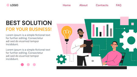 Best Solution for Your Business Ilustrace