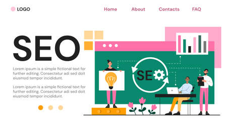 Web page template for SEO on a website