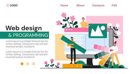 Web page template for web design