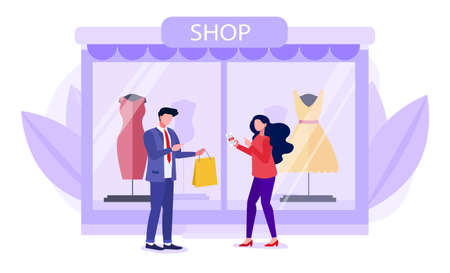 Shopping concept with young couple