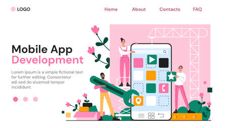 Mobile app development by a team of coders
