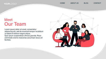 Meet our team web page template