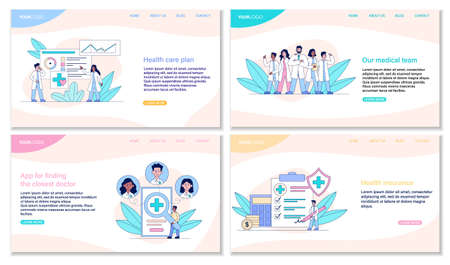 Healthcare and medical web page templates