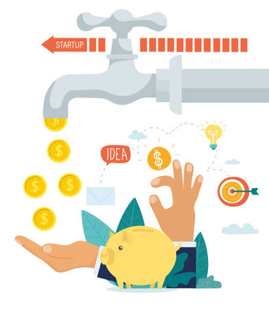 Making money and business startup concept