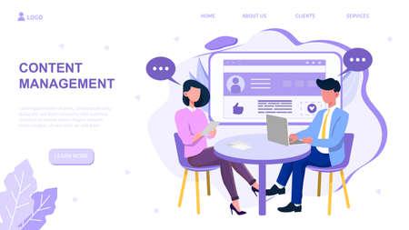 Content management vector illustration
