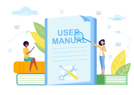 Vector illustration concept of manual studies