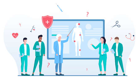 Vector illustration of lecture in medical school