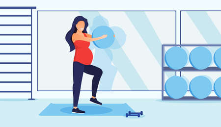 Fitness for pregnant woman concept