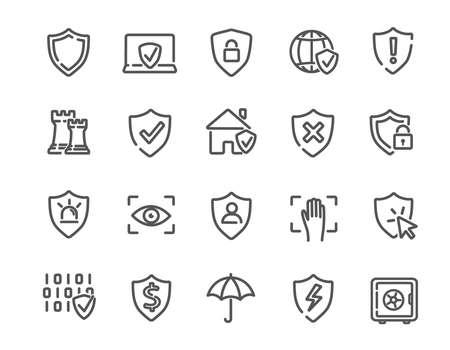 Large set of Defence icons or badges Vektorgrafik
