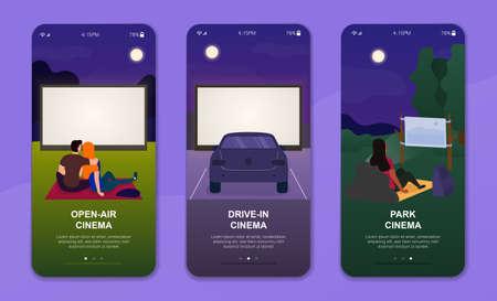 Three concepts of outdoor cinema