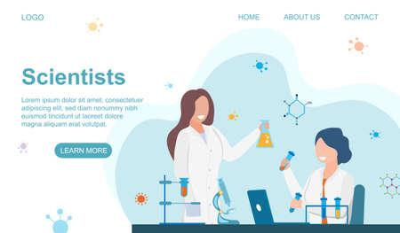 Scientists at Work Vektorgrafik