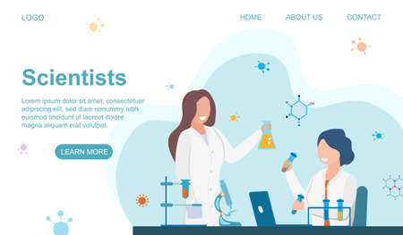 Scientists at Work Vektorové ilustrace