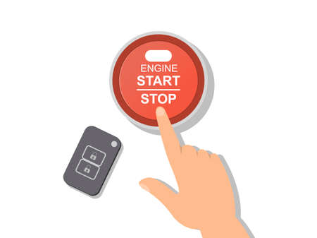 Engine or machinery Stop Start control button