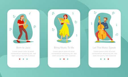 Three motivational Music Festival poster designs Иллюстрация