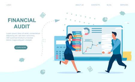 Financial audit concept