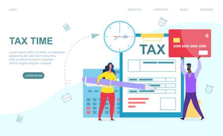 Online tax payment concept
