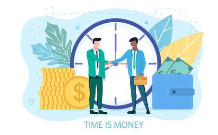 Time is money concept Иллюстрация