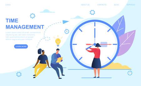 Time management concept Иллюстрация