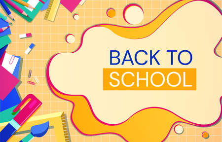 Back to school banner 일러스트