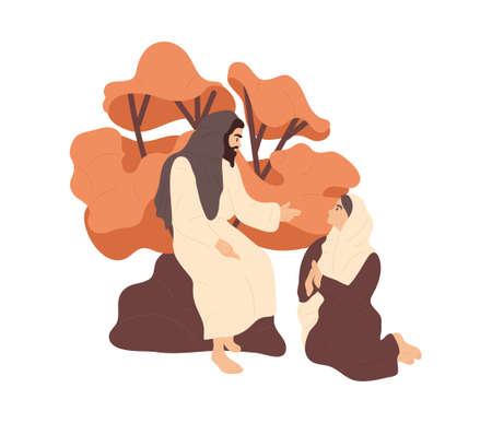 Jesus speaking to a wonan