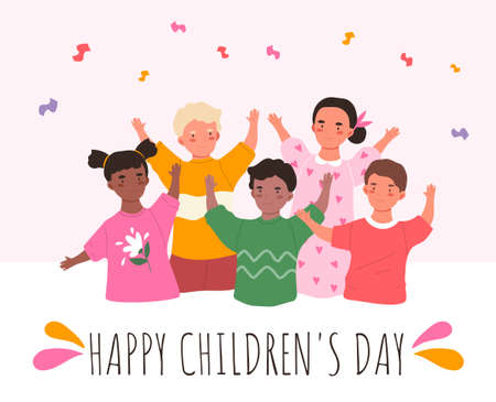 Happy children s day poster