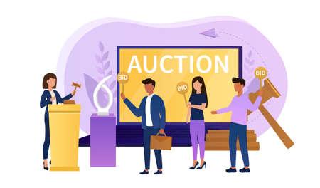 Online auction concept