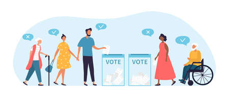 Voting concept, people of different nationalities