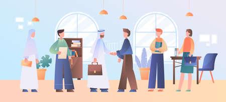 International business partnership concept