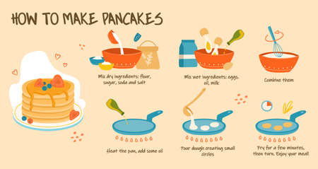 Cooking delicious pancakes.