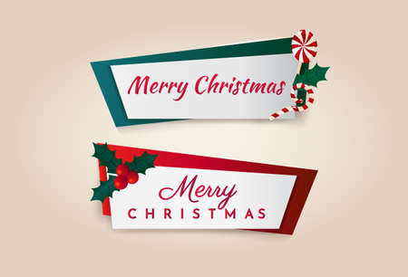 Colorful Christmas banners set Illustration