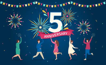 5 - year anniversary celebration.