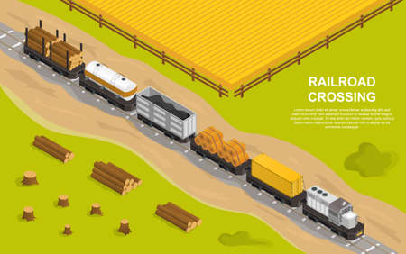 Railroad or rail transportation concept