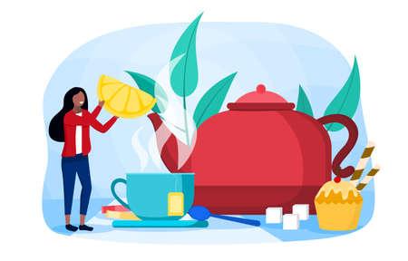 Making tea concept