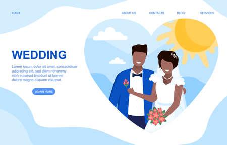 Wedding vector concept