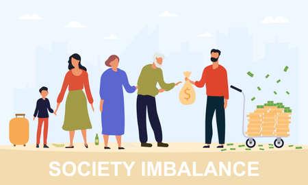 Concept of society imbalance 向量圖像